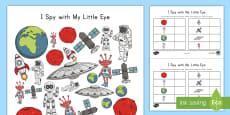 I Spy Space Activity Sheet