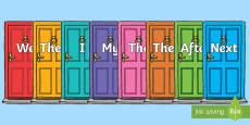 Sentence Openers on Doors