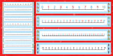 Number Lines Pack Up to 30 to Support Teaching on The Jolly Christmas Postman