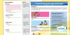 PlanIt - Computing Year 3 - Programming Turtle Logo and Scratch Planning Overview