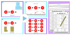 Year 2 Adding 2 Digit Numbers and Tens Not Crossing 100 With Same 10s Lesson Teaching Pack