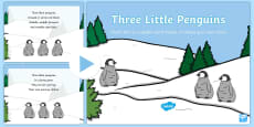 Three Little Penguins Rhyme Song PowerPoint