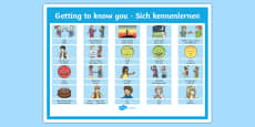 * NEW * Getting to Know You German Display Poster