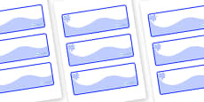 Blue Themed Editable Drawer-Peg-Name Labels (Colourful)