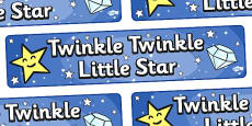 Twinkle Twinkle Little Star Display Banner
