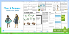 Year 4 Summer English Activity Booklet
