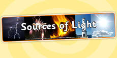 Sources of Light Photo Display Banner