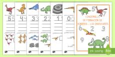 Cuadernillo: La formación de los números 1-9 de los dinosaurios
