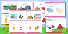Context Clues: Summer Words Challenge Cards