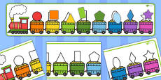 2D Shape Train Matching Puzzle