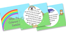 Who Put the Colours in the Rainbow Hymn Lyrics PowerPoint