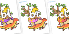Initial Letter Blends on Reptiles to Support Teaching on The Great Pet Sale