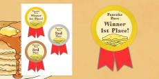 Pancake Race Medals