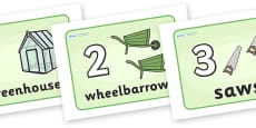 1-10 Counting Posters (Garden Tools)