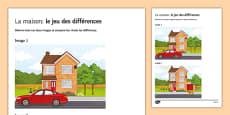 La maison : jeu des différences
