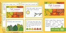 Leaf Fact Cards