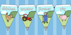 Farm Themed Bunting