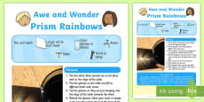 Prism Rainbows Awe and Wonder Science Activity