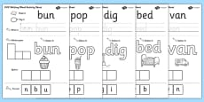 CVC Writing Word Activity Sheet Pack