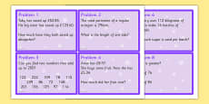 Maths Problem Cards Year 6