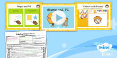 PlanIt - Computing Year 1 - Painting Lesson 3: Shapes and Fill Lesson Pack