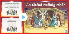 An Chéad Nollaig Mhór Song PowerPoint Gaeilge