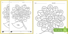 2-3 Year Olds 'I Can' Assessment Flower English/Romanian