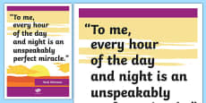 Whitman Inspirational Classroom Quote Display Poster