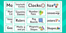 Dragonfly Themed Editable Maths Area Resource Labels