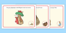 Beatrix Potter - The Tale of Benjamin Bunny Playdough Mats