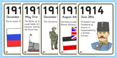 World War One A4 Display Timeline