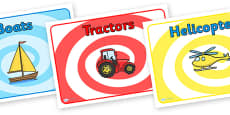 Editable Class Group Signs (Transport) - Set 1