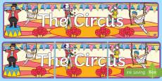Circus Display Banner