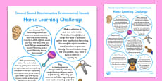 Phase 1 Aspect 1: Environmental Sounds Home Learning Challenges Reception FS2