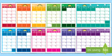 * NEW * 2018 Themed Display Calendar