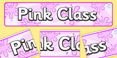 Pink Themed Classroom Display Banner