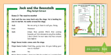 KS1 Jack and the Beanstalk Differentiated Play Script Extracts