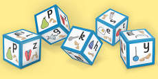 Phase 1 Alphabet Sound Dice with Images and Sign Language