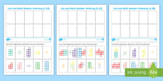* NEW * Number Shape Cut and Stick Number Ordering Activity Sheet