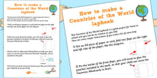 Countries of the World Lapbook Instructions