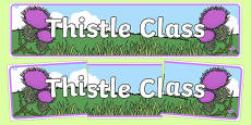 Thistle Class Display Banner