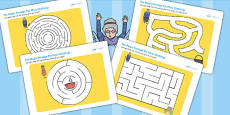 The Magic Porridge Pot Differentiated Maze Activity Sheet Pack
