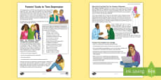 Supporting Your Teenager's Mental Health Parent and Carer Information Sheet