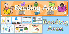 EYFS Reading Area Classroom Set Up Pack