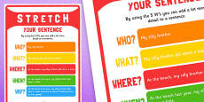 Stretching A Sentence Poster
