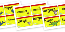 Size Word Cards for Visually Impaired