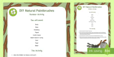 DIY Natural Paintbrushes Outdoor Activity