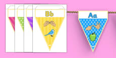 Sign Language Alphabet Image Display Bunting