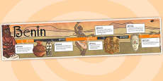 Benin Display Timeline