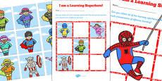 Learning Superheroes Reward Chart